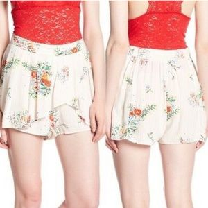 New Free People Ivory Combo floral skirt